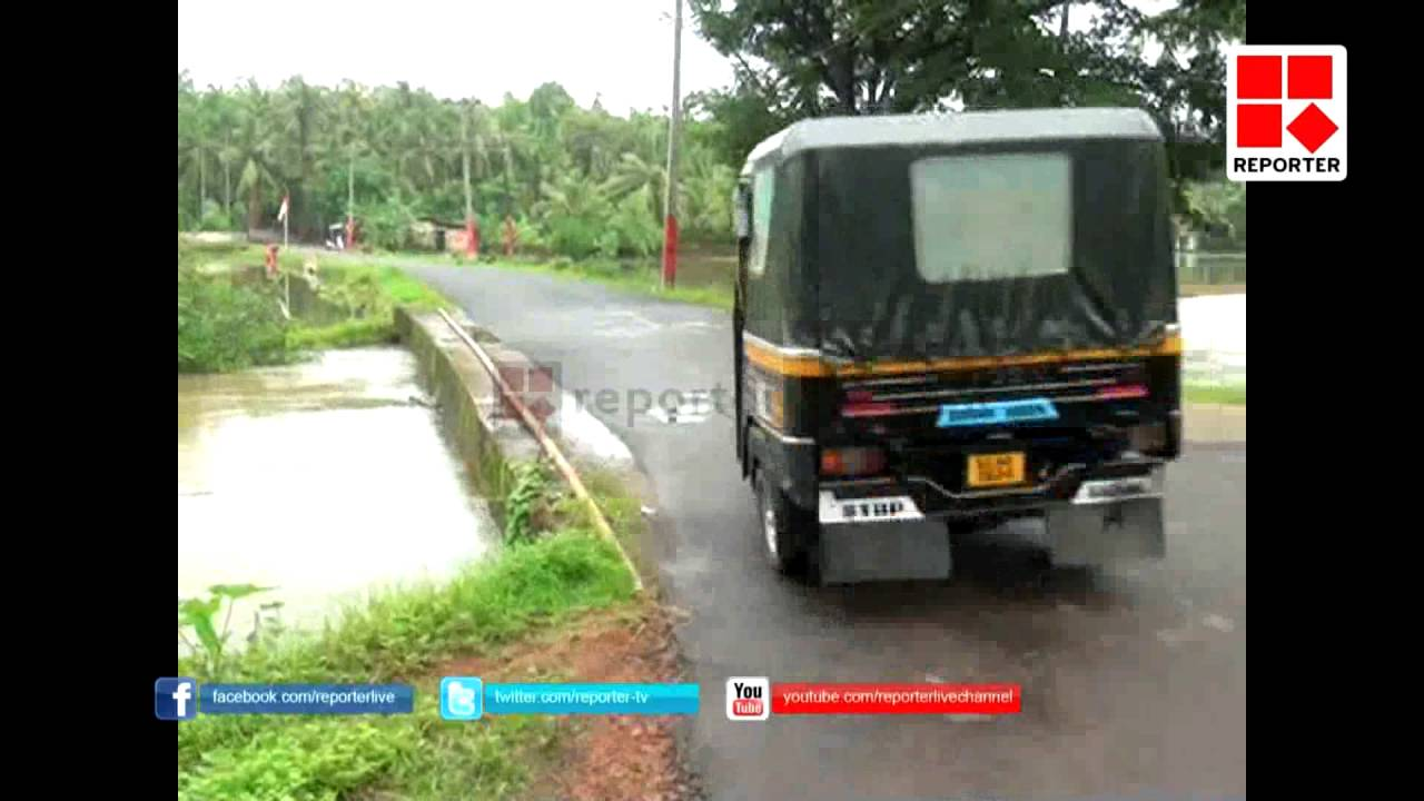 Many accident found due to unsafe of bridge  in kasaragod