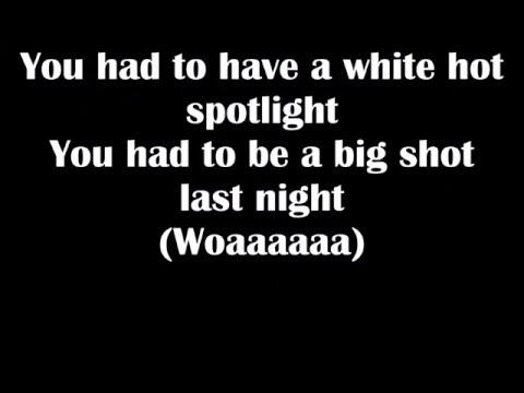 Big Shot by Billy Joel (Lyrics)