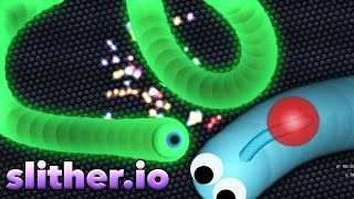 Slither.io: COMO FICAR TOP 1 SEM HACK !!!