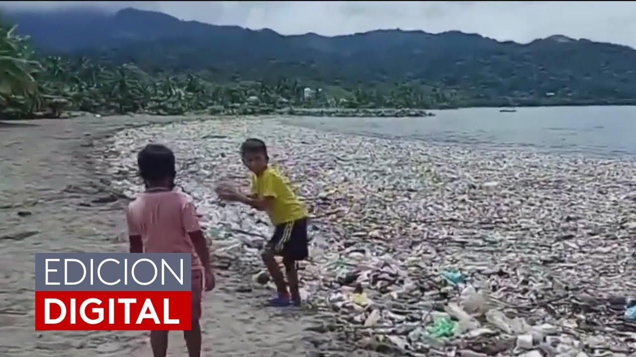 En video: Toneladas de basura inundan las playas de Honduras