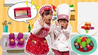 オーブンで焼くよ♪あちゃぴとぎんたのねんどスイーツショップ!Play Doh