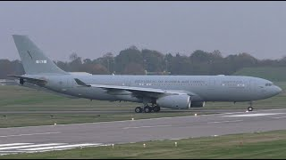 RoKAF Airbus A330 MRTT 19-004 Take Off at Cambridge Airport