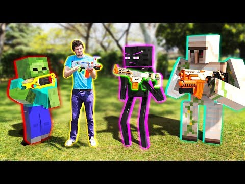 NERF meets Minecraft | Full Movie Animation!