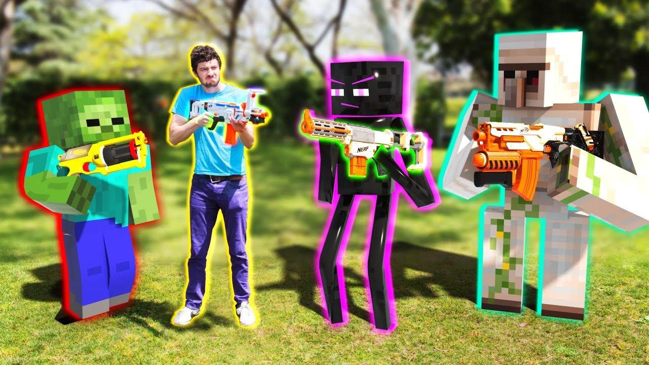 NERF meets Minecraft   Full Movie Animation!