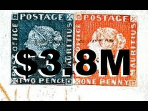 38M Rarest And Most Valuable Stamps In The World Mauritius Blue Red RAre British Guiana One Cent