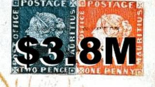 $3.8M Rarest and Most Valuable Stamps In The World Mauritius Blue Red RAre British Guiana One Cent