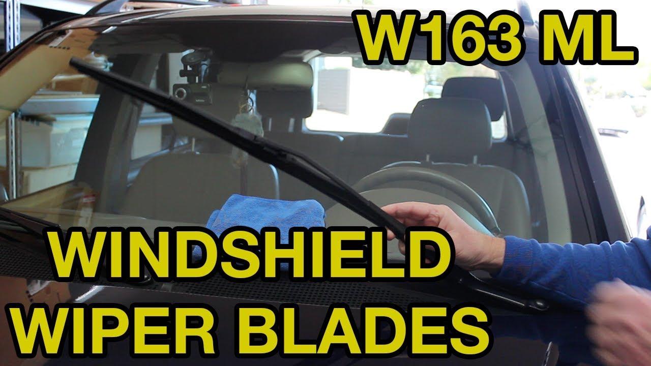 1998-2005 Mercedes-Benz ML Windshield Wiper Blade Replacement (W163)