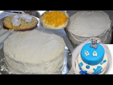 Праздничный торт ребенку на ДР - крем и сборка торта (Рубрика - Торты)