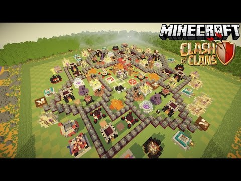 Clash Of Clans In Minecraft? Awesome Maxed TH10 Map!
