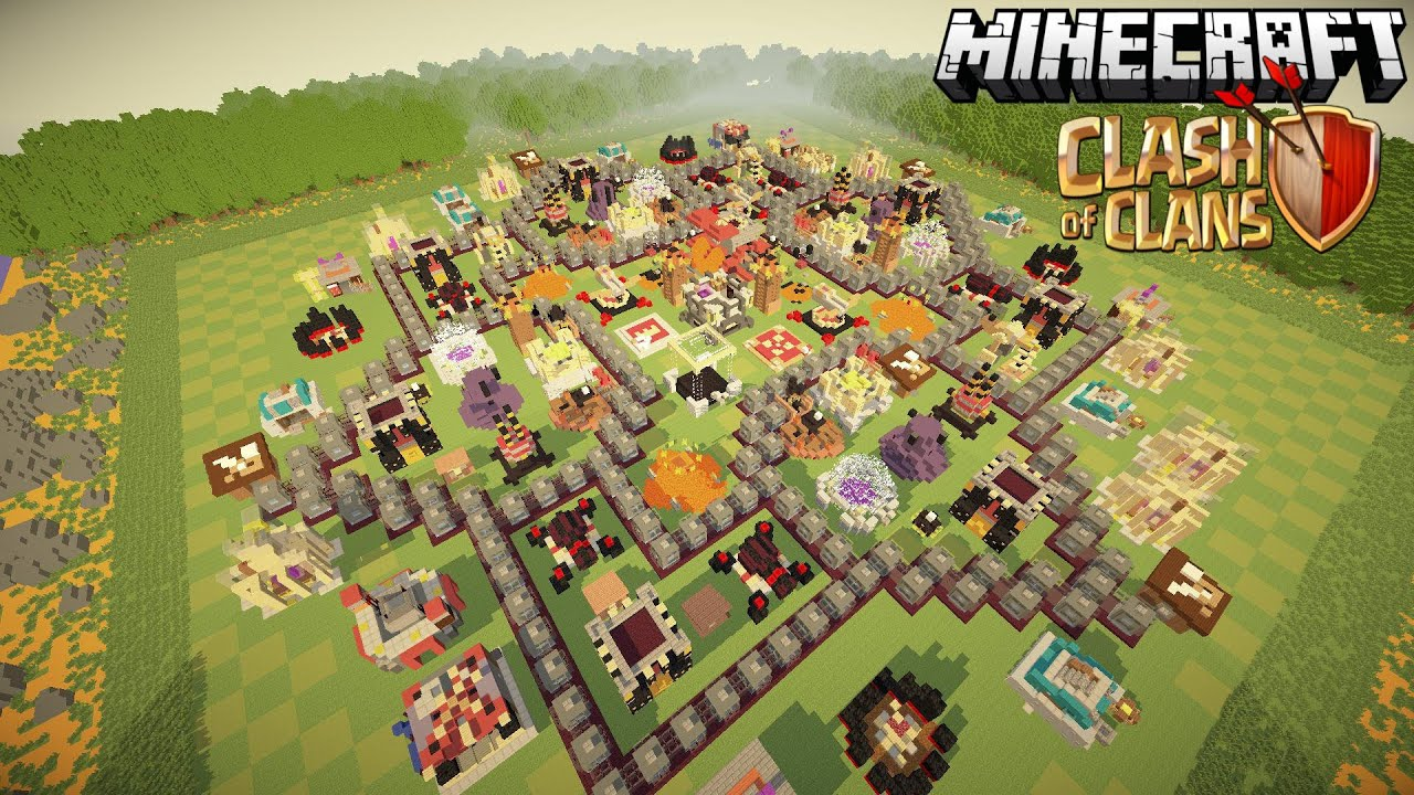 . clash of clans in minecraft awesome maxed th map  youtube