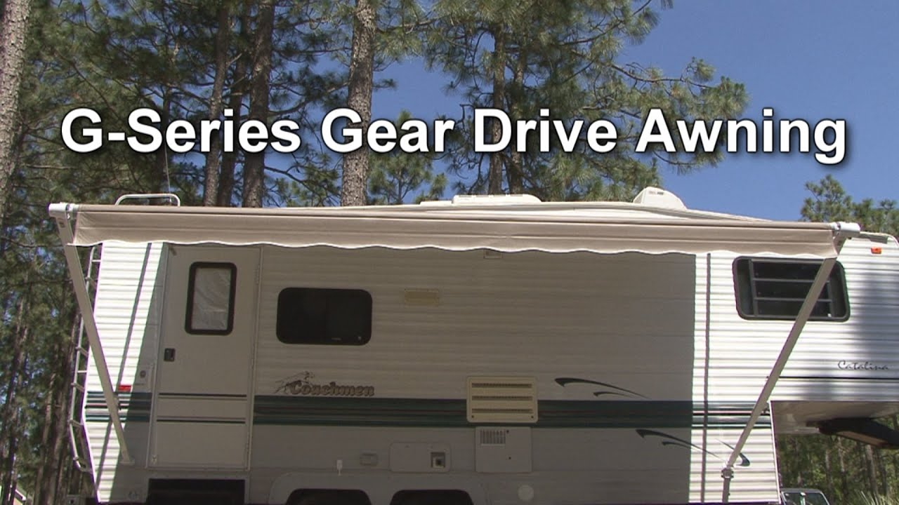 G Series Gear Drive RV Patio Awning By Dometic   YouTube