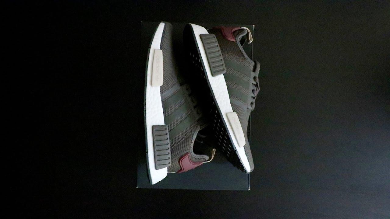 092857de9acb Adidas Women NMD Olive Maroon - YouTube