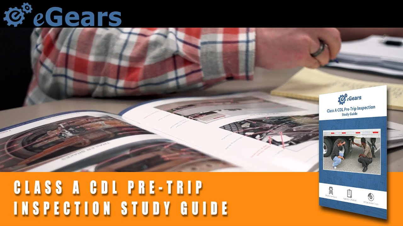 cdl pre trip inspection diagram 7 pole trailer wiring class a study guide youtube
