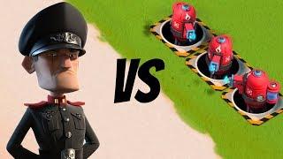 Boom Beach 3 MAXED HOT POTS VS Defending Hammerman!! Hammerman Attacks You Gameplay!!