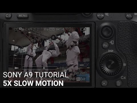 The Sony a9 5x Slow Motion (120fps) - Camera Quick Start