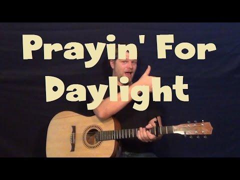 Prayin' For Daylight (Rascal Flatts) Easy Guitar Lesson Strum Chord How to Play Tutorial
