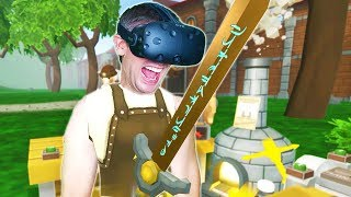 OWNING THE ULTIMATE BLACKSMITH AND ALCHEMIST SHOP IN VR! - CRAFT KEEP VR HTC VIVE Gameplay