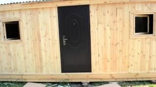 Бытовка деревянная(утпелнная с 2 окнами открывающимися, металлической дверью) 42 000(, 2014-08-04T06:40:53.000Z)