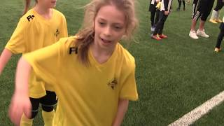CZ1-Fc Yellow Junior z Kudełkiem w Legnicy pod balonem - Juventus Legnica - I meczyk