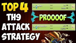TOP 4 TH9 BEST WAR ATTACK STRATEGY 2018 | 3 STAR ANY BASE | Clash of Clans
