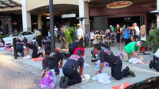 north naples fire rescue stayin alive cpr flash mob