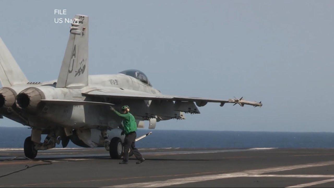 Jet Fighter bersiap trbang ke Timur Tengah (gambar dari: https://www.youtube.com/watch?v=vwGo_KMTrk0)