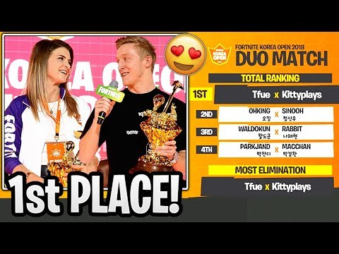 Tfue and KittyPlays WON the Korean Open Duo Tournament! - Fortnite Korean Open Highlights