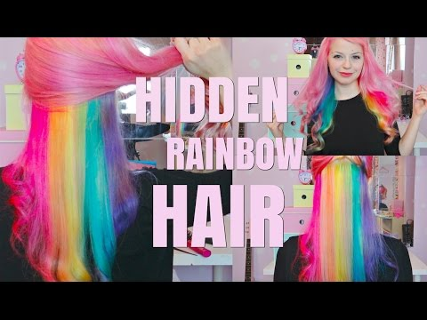 hidden rainbow hair tutorial