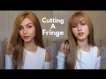 Cutting My Own Fringe | How to cut Bangs | Stella