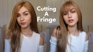 Cutting My Own Fringe | How to cut Bangs | Stella