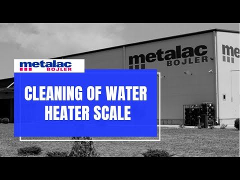Cleaning of water heater scale