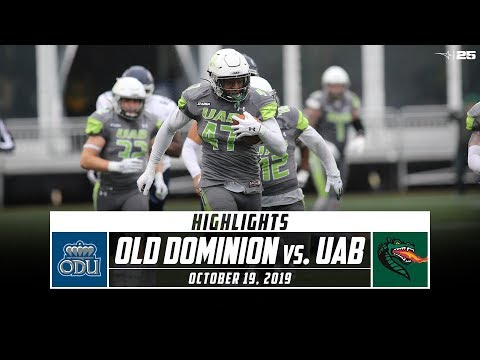 Old Dominion Vs. UAB Football Highlights (2019) | Stadium