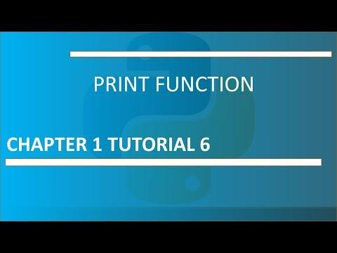 Print Function: Python Tutorial 6 thumbnail