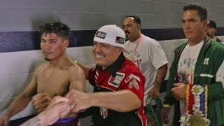 Mikey Garcia Walks To Locker Room After Being Defeated By Errol Spence