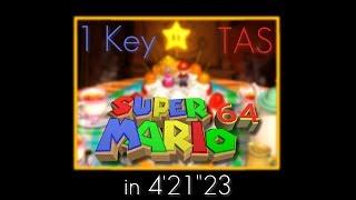 """[TAS] N64 Super Mario 64 """"1 Key"""" in 4:21.23"""