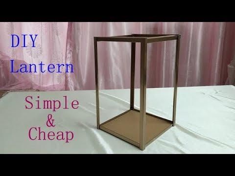 DIY Lantern / Lantern Centerpiece / table decoration / reception idea / not dollar tree