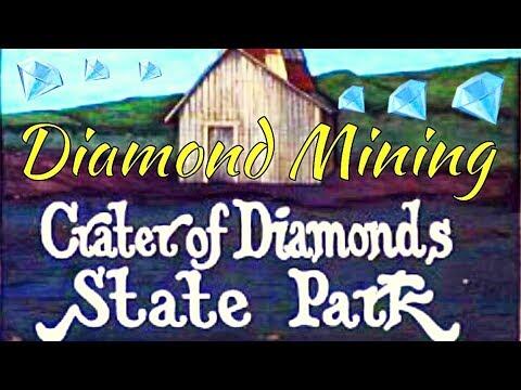 Diamond Mining at Crater Of Diamonds State Park in Arkansas
