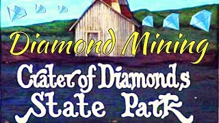 Diamond Mining at Crater Of Diamonds State Park in Arkansas