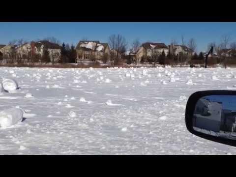 Snow-rollers in Columbus Ohio