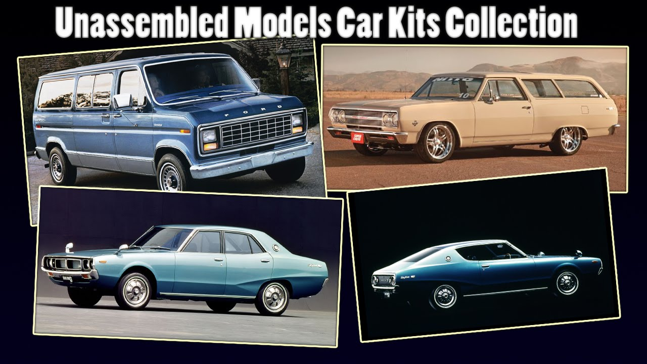Unassembled Models Car Kits Collection 1:25 1:24 [Part 1] - YouTube