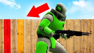 2000 IQ WOODEN FENCE HIDING SPOT! (Gmod Funny Moments)