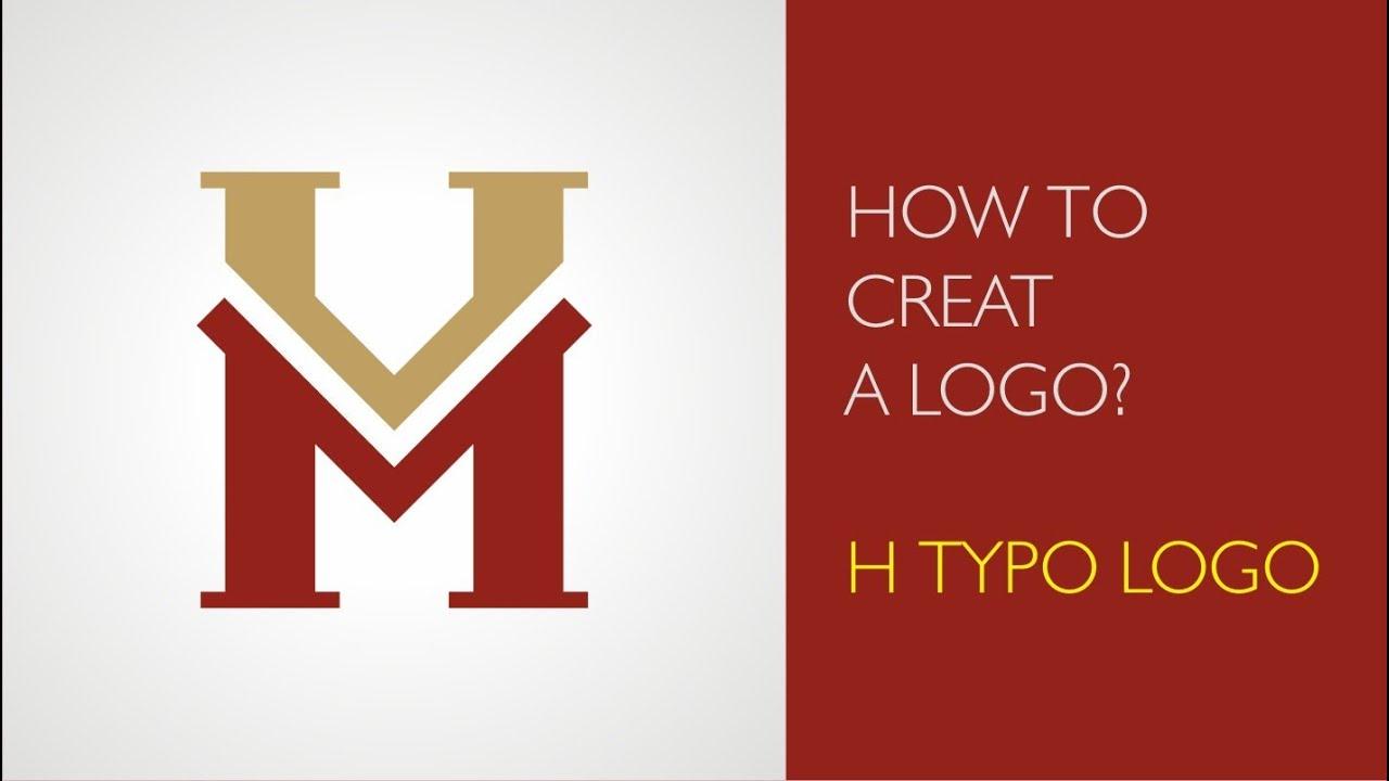 How to create a logo - H typo logo - YouTube - photo#24