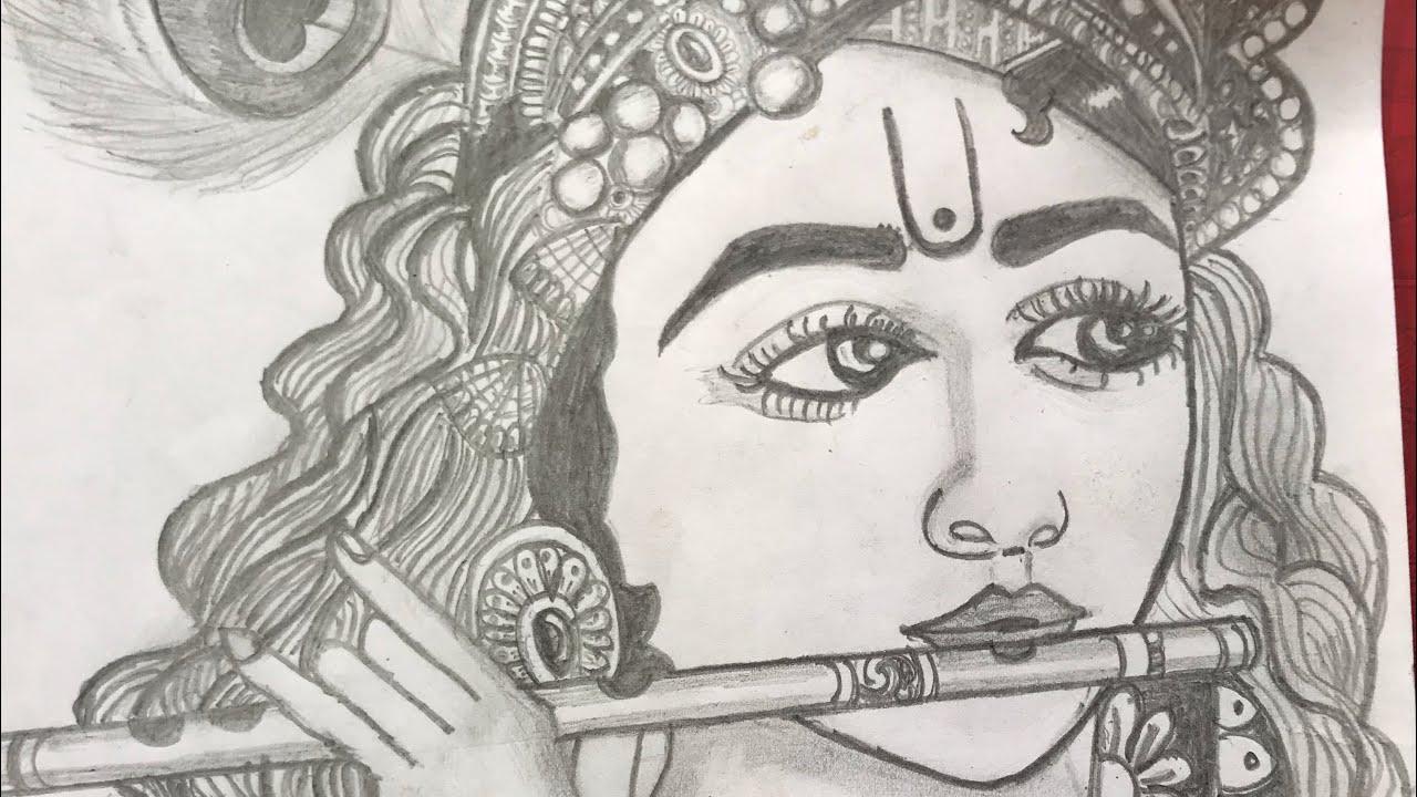 KRISHNA | pencil sketch | - YouTube