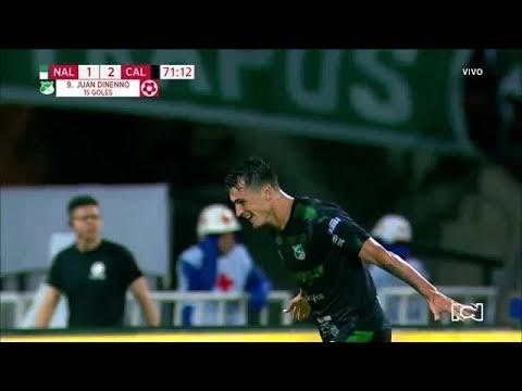 Nacional vs Cali (Gol Dinenno) Liga Aguila 2019-I   Cuadrangulares Fecha 3