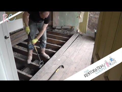 Removing, Insulating and Restoring a Suspended Wooden Floor. Part 1 of 3