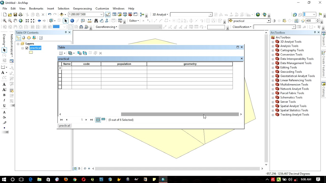 how to add fields and records in the attribute table in ArcGIS 10 3