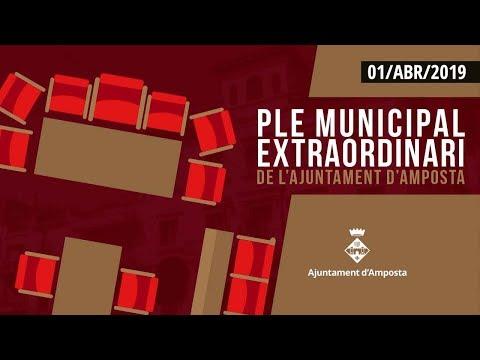 Emissió en directe del Ple Municipal extraordinari de l'Ajuntament d'Amposta
