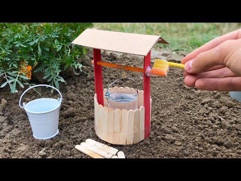 DIY Realistic Miniature Water Well (DollHouse) How to Make a Well at Home