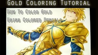 Gold Coloring Tutorial [using color pencils]