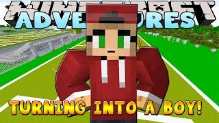 Minecraft School Adventures : LITTLE KELLY TURNS INTO A BOY!